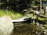 Fetching water at the trail crossing