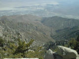 View of Tahquitz Canyon and Palm Springs