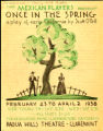 Once in the Spring, 1938