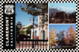 Postcard of Historic Route 66 Claremont, CA
