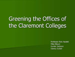 Greening the offices of The Claremont Colleges