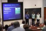 Trevin Murakami, Corina Tom, and Herbie Huff present at Sustainability Presentations Day 2007
