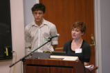 Sam Brunswick and Rose Haag at Sustainability Presentations Day 2007