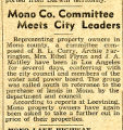 Mono County committee meets city leaders