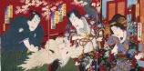 Kabuki theater print: The Cat Monster