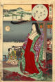 Omi Province; Murasaki Shikibu and the autumn moon at Ishiyamadera