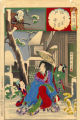 Edo, snow at Yoshiwara, Urazato