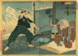 Duel between Musashi, 1583-1647, and Tsukahara Bokuden
