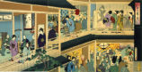 Tenth month: wealthy merchants celebrating Ebisu