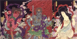 Kabuki theater print: The Austerities of Mongaku