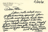 Correspondence from John F. Welch to Peter Drucker, 1998-02-22