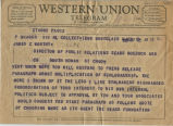 Telegram from Peter Drucker to James Worthy, 1955-09-02
