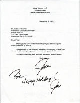 Correspondence from Jack Welch to Peter Drucker, 2003-12-08