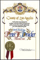 County of Los Angeles recognition of Peter F. Drucker's birthday