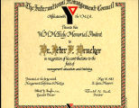 International Management Council Memorial Award presented to Peter F. Drucker