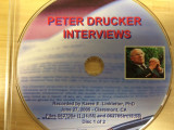 Peter Drucker Interviews, July 11, 2005 - Claremont, CA, disc 1