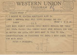 Telegram from Peter Drucker to James Worthy, 1958-03-06