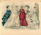 French bridal fashions, 1869