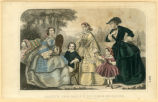 Women's and children's American fashions, circa 1858