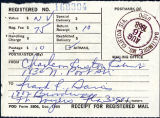 Receipt for registered mail, 1968-08-16