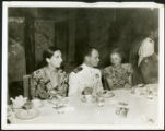 Priscilla Polkinghorn with Commander Haskell at a banquet