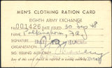 Men's clothing ration card, 1948-09-30