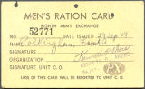 Men's ration card, 1949-09-29