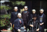 Kōkichi Mikimoto and Frank Polkinghorn with four individuals