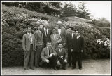 Charles Protzman with a group of men