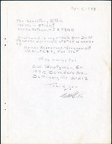 Charles Protzman letter to the secretary store, 1983-04-05