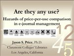 Are they any use? Hazards of price-per-use comparisons in e-journal management