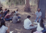 Lab IV, lecture under tree
