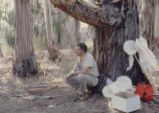 Larry Oglesby teaching a class under a tree