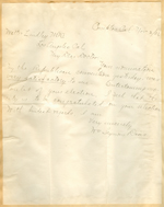 Letter from William Seymour Davis to Walter Lindley