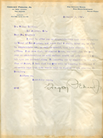 Letter from Gregory Perkins to Walter Lindley