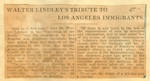 Walter Lindley's tribute to Los Angeles immigrants