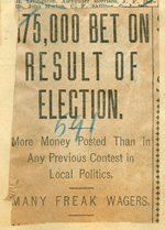 75,000 bet on result of election
