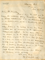 Letter from D.S. McCarthy to Walter Lindley