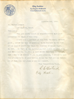 Letter from E.E. Bostwick to Walter Lindley