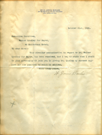 Letter from W. Jarvis Barlow to Walter Lindley