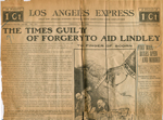 The Times guilty of forgery to aid Lindley