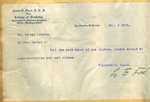 Telegram from Lewis E. Ford to Walter Lindley