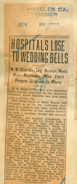 Hospitals lose to wedding bells