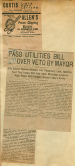 Pass utilities bill over veto by mayor