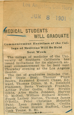 Medical students will graduate