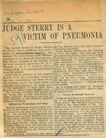 Judge Sterry is a victim of pneumonia