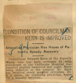 Condition of Councilman Kern is improved