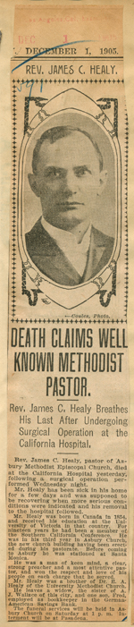 Death claims well known Methodist pastor