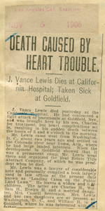 Death caused by heart trouble