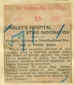 Lindley's hospital stirs indignation